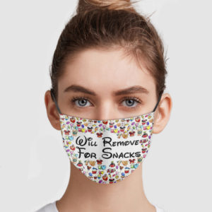 Will Remove For Snacks Face Mask