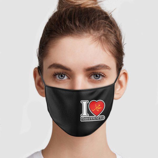 I Love Mohammad Face Mask