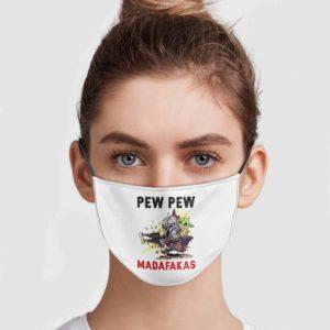 Mandalorian And Baby Yoda – Pew Pew Madafakas Face Mask