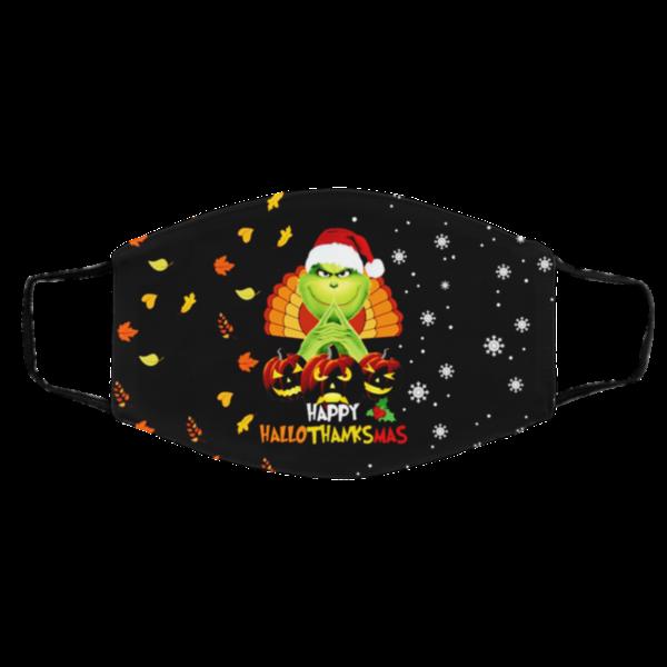 Grinch – Happy HalloThanksMas Face Mask