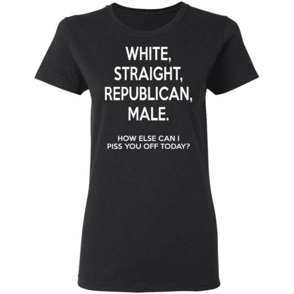 White – Straight – Republican – Male Shirt