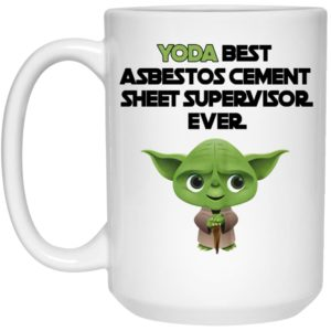 Yoda Best Asbestos Cement Sheet Supervisor Ever Mugs