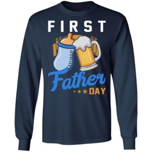 Baby Bottles And Beer – First Father's Day Shirt
