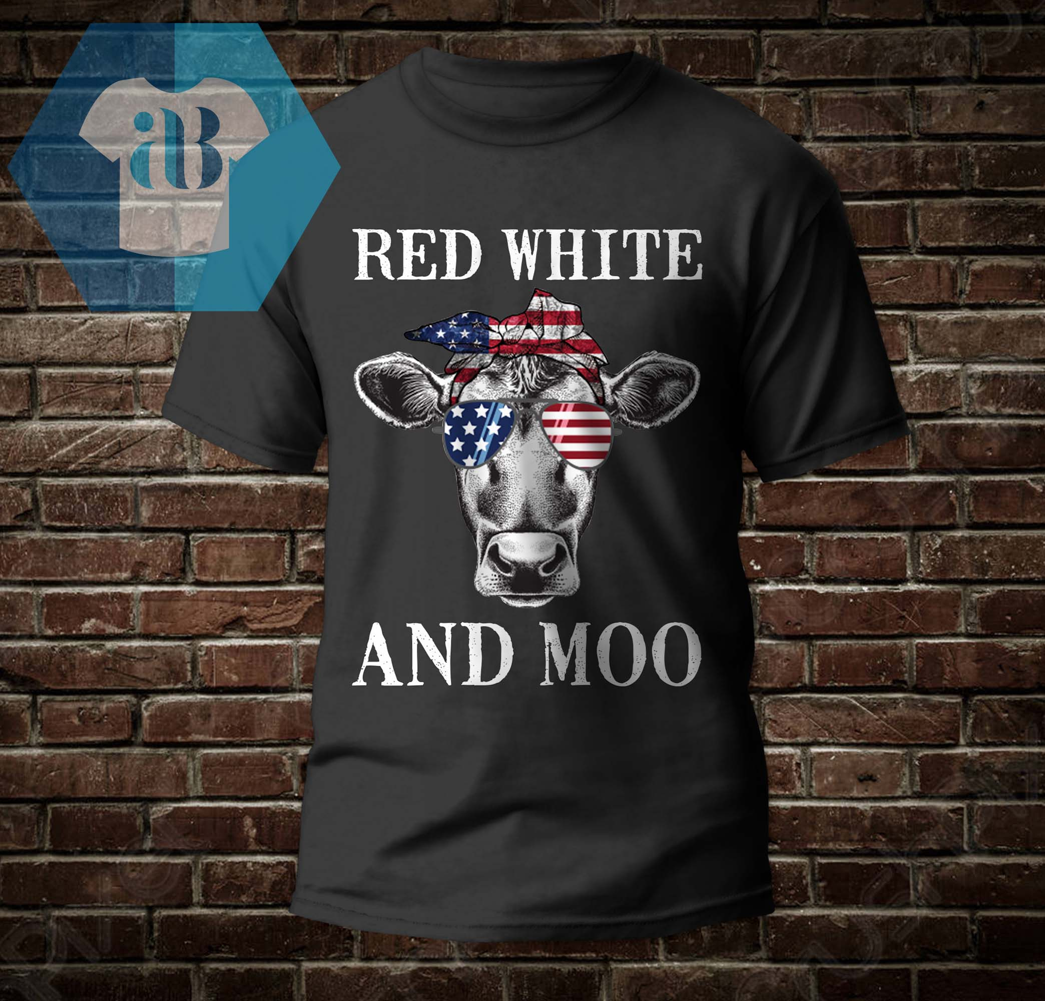 4th Of July - Red White And Moo Shirt