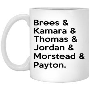 Brees – Kamara – Thomas – Jordan – Morstead – Payton Mugs