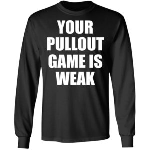 Your Pullout Game Is Weak Shirt