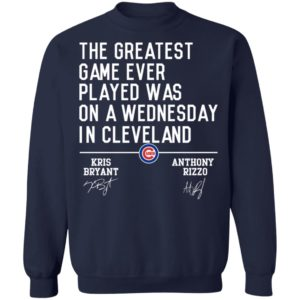 The Greatest Game Ever Played Was On A Wednesday In Cleveland Shirt