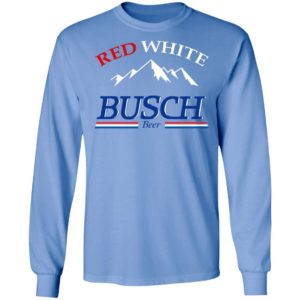 Red White And Busch Beer Shirt