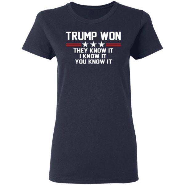 Trump Won – They Know It – I Know It – You Know It Shirt